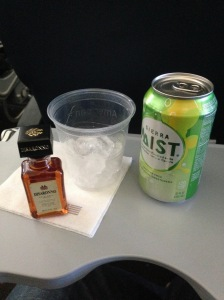 First time getting an airplane drink, actually not as expensive as I expected!