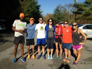 Patapsco State Park Saturday Morning Run Theo, Tim, Rich, Camila, Kristen, Me, Cat